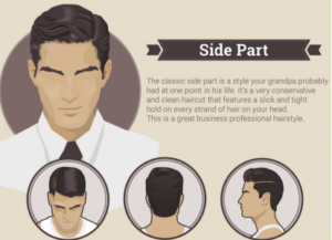 coiffure homme side part